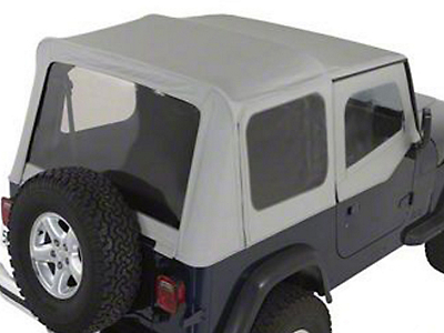 Rugged Ridge Soft Top w/ Tinted Windows & Door Skins - Charcoal (88-95 Jeep Wrangler YJ w/ Factory Soft Top)