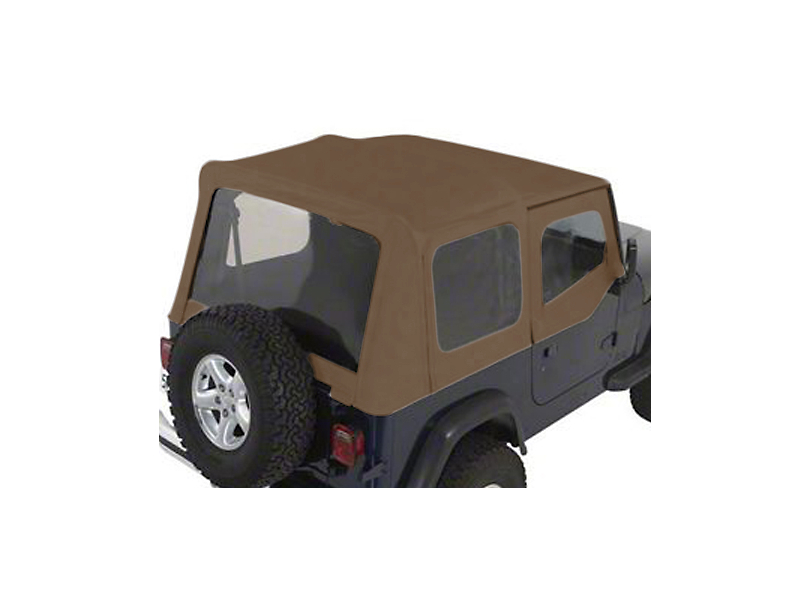Rugged Ridge Soft Top w/ Tinted Windows & Door Skins - Spice Denim (88-95 Jeep Wrangler YJ w/ Factory Soft Top)