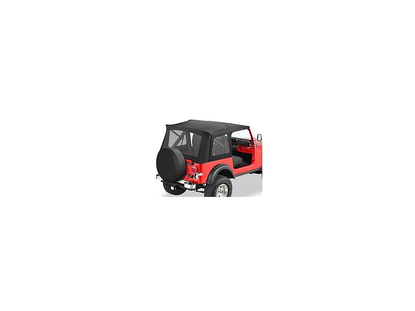 Bestop Supertop Classic Replacement Soft Top - Black Denim (87-95 Jeep Wrangler YJ w/ Full Doors)