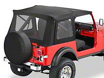 Bestop Supertop Classic Replacement Soft Top - Black Denim (87-95 Wrangler YJ w/ Full Doors)