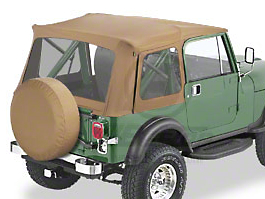 Bestop Supertop Classic Replacement Soft Top - Spice (87-95 Wrangler YJ w/ Full Doors)