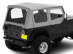 Bestop Replace-A-Top w/ Clear Windows - Charcoal (88-95 Jeep Wrangler YJ w/ Steel Half Doors)