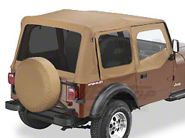 Bestop Replace-A-Top w/ Tinted Windows - Spice (88-95 Jeep Wrangler YJ w/ Steel Half Doors)