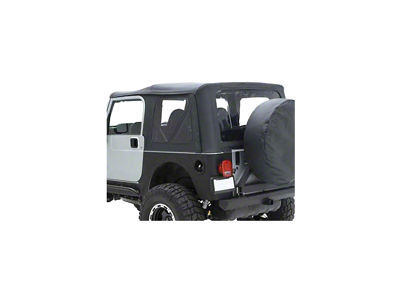 Smittybilt Replacement Top w/ Upper Door Skins - Gray Denim (87-95 Jeep Wrangler YJ w/ Factory Soft Top & Half Doors)