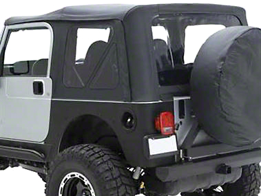 Smittybilt Replacement Top w/ Upper Door Skins - Gray Denim (87-95 Wrangler YJ w/ Factory Soft Top & Half Doors)