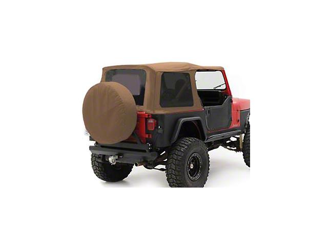 Smittybilt Replacement Top w/ Upper Door Skins - Spice Denim (87-95 Jeep Wrangler YJ w/ Factory Soft Top & Half Doors)