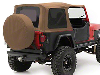 Smittybilt Replacement Top w/ Upper Door Skins - Spice Denim (87-95 Jeep Wrangler YJ w/ Factory Soft Top & Half Doors)