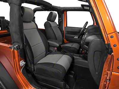 Rugged Ridge Neoprene Front Seat Covers - Black/Gray (11-18 Wrangler JK)
