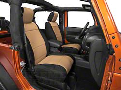 Rugged Ridge Neoprene Front Seat Covers - Black/Tan (11-18 Jeep Wrangler JK)
