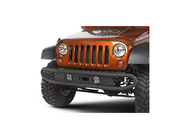 Olympic 4x4 Boa Basic Front Bumper - Textured Black (07-18 Jeep Wrangler JK)
