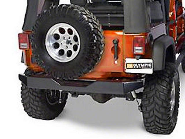 Olympic 4x4 Rear Rock Bumper - Textured Black (07-18 Jeep Wrangler JK)