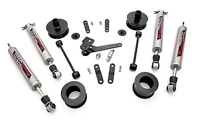 Rough Country 2.5 in. Series II Lift Kit w/ Shocks (07-17 Wrangler JK)