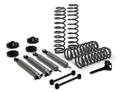 Rough Country 3.25 in. Lift Kit w/ Shocks (07-17 Wrangler JK 4 Door)