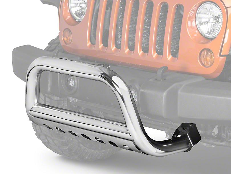 Rugged Ridge 3 in. Bull Bar - Stainless (10-18 Jeep Wrangler JK)