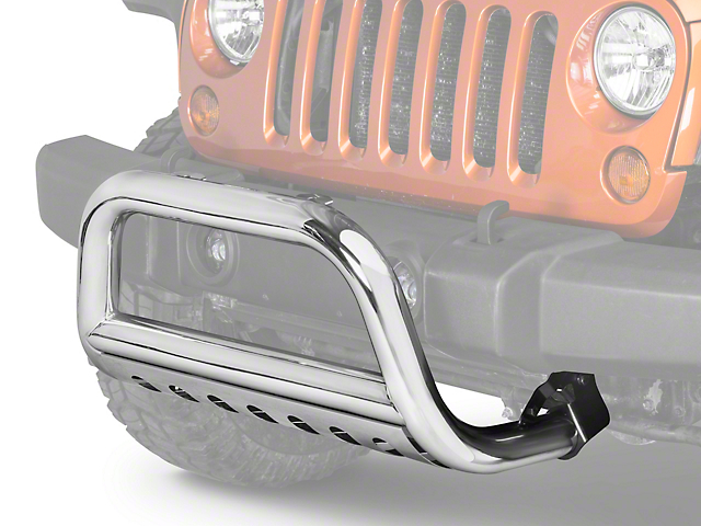 Rugged Ridge 3 in. Bull Bar - Stainless Steel (10-18 Jeep Wrangler JK)