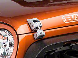 Rugged Ridge Aluminum Hood Catches - Silver (07-18 Jeep Wrangler JK)