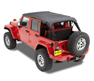 Bestop Safari-Style Header Bikini Top - Black Diamond (10-18 Jeep Wrangler JK 4 Door)