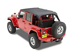 Bestop Safari-Style Header Bikini Top; Black Diamond (10-18 Jeep Wrangler JK 4 Door)