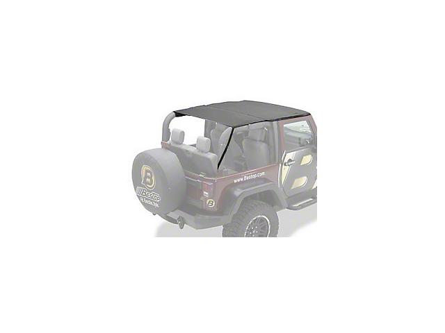 Bestop Safari-Style Header Bikini Top - Black Diamond (10-18 Jeep Wrangler JK 2 Door)
