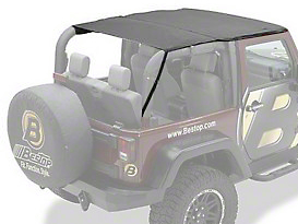 Bestop Header Safari Bikini Top - Black (10-18 Wrangler JK 2 Door)