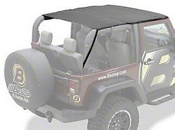 Bestop Safari-Style Header Bikini Top; Black Diamond (10-18 Jeep Wrangler JK 2 Door)