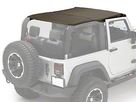 Rugged Ridge Pocket Island Top - Khaki Diamond (10-18 Wrangler JK 2 Door)