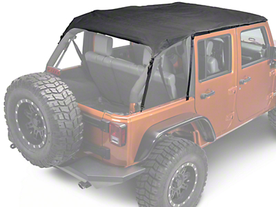 Rugged Ridge Pocket Island Top - Black Diamond (10-18 Wrangler JK 4 Door)