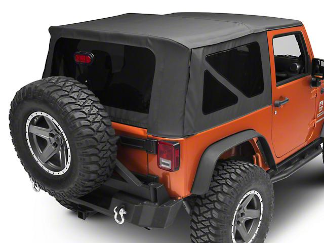 Bestop Sailcloth Replace-A-Top with Tinted Windows; Black Diamond (10-18 Jeep Wrangler JK 2 Door)