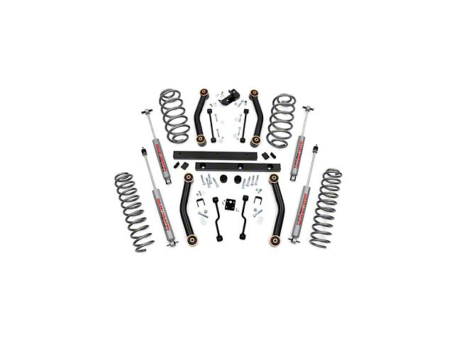 Rough Country 4-Inch Lift Kit with Shocks (03-06 Jeep Wrangler TJ)