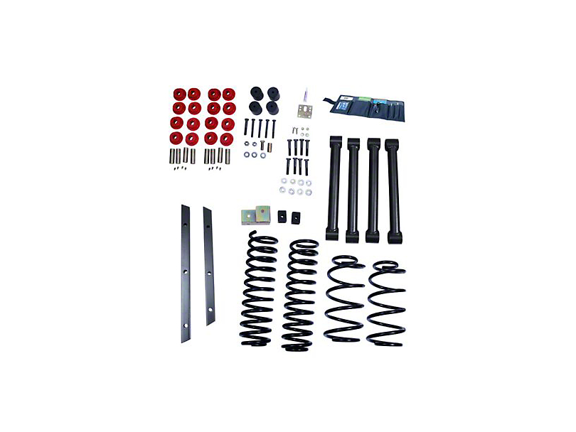 Rugged Ridge 2 in. Suspension Lift Kit w/ Shocks (97-02 Jeep Wrangler TJ)