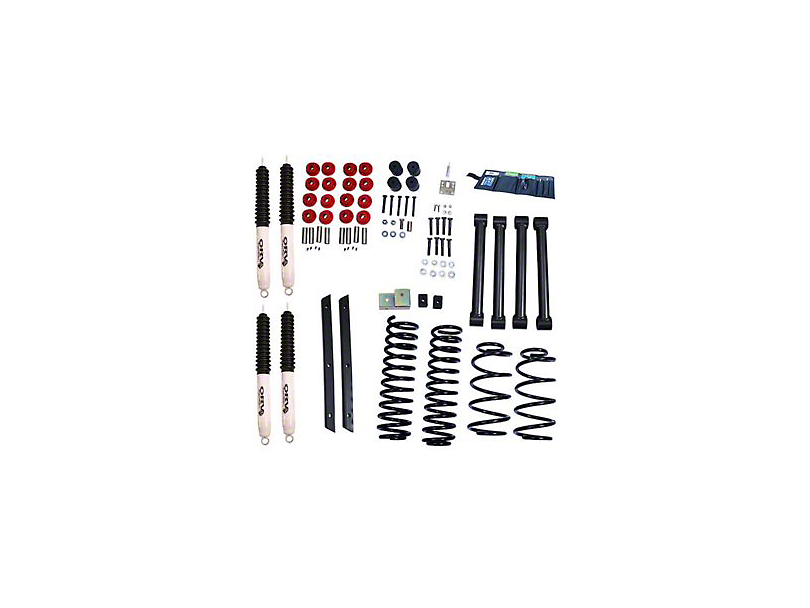 Rugged Ridge 2 in. Lift Kit w/ Shocks (03-06 Wrangler TJ Rubicon)