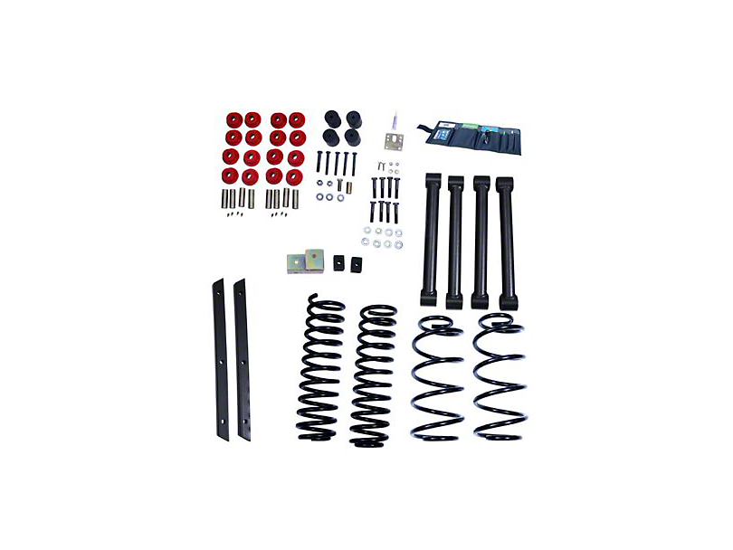 Rugged Ridge 2 in. Suspension Lift Kit w/ Shocks (04-06 Jeep Wrangler TJ Unlimited)