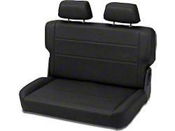 Bestop Trailmax II Fold-N-Tumble All Vinyl Rear Bench Seat; Charcoal (76-95 Jeep CJ5, CJ7 & Wrangler YJ)