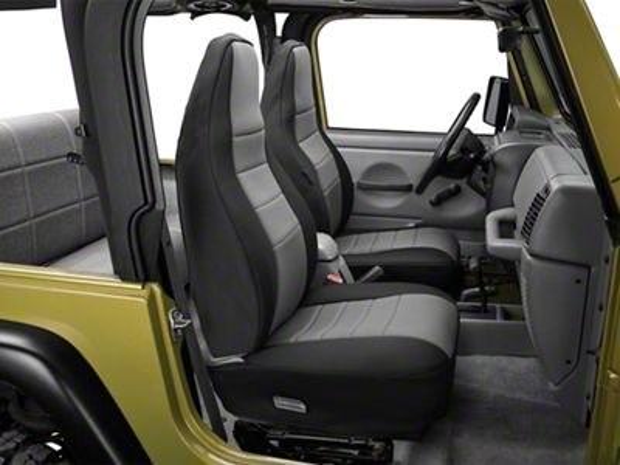 Rugged Ridge Neoprene Front Seat Covers - Gray (97-02 Jeep Wrangler TJ)