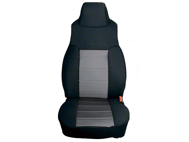 Rugged Ridge Neoprene Front Seat Covers; Black/Gray (91-95 Jeep Wrangler YJ)
