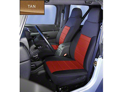 Rugged Ridge Neoprene Front Seat Covers - Tan (91-95 Wrangler YJ)