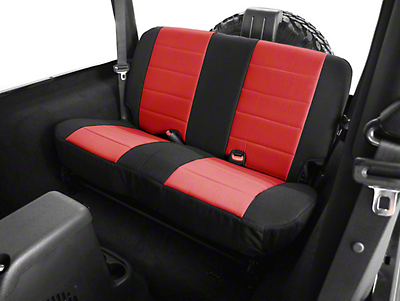 Rugged Ridge Neoprene Rear Seat Cover - Red (87-95 Jeep Wrangler YJ)