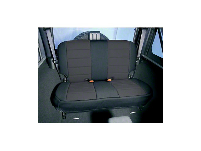 Rugged Ridge Neoprene Rear Seat Cover; Black/Tan (87-95 Jeep Wrangler YJ)