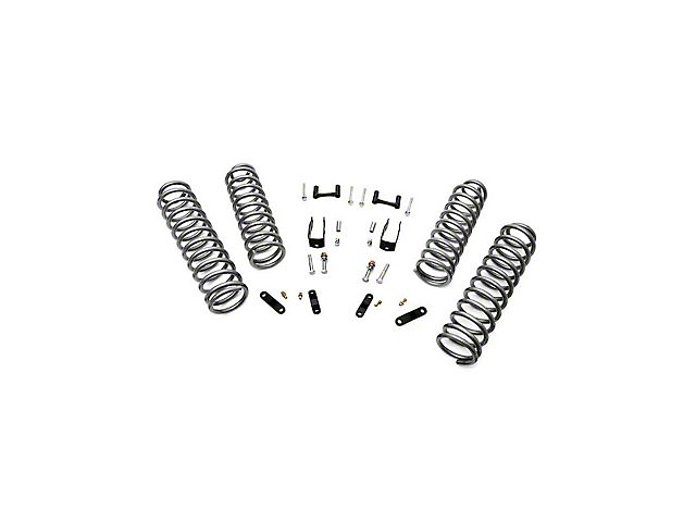 Rough Country 2.50-Inch Suspension Lift with Coils and Brackets (07-18 Jeep Wrangler JK 4 Door)