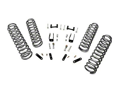 Rough Country 2.5 in. Suspension Lift w/ Coils & Brackets w/o Shocks (07-18 Jeep Wrangler JK 4 Door)
