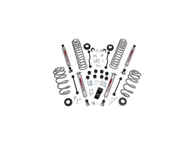 Rough Country 3.25 in. Lift Kit w/ Shocks (97-02 2.5L Wrangler TJ)