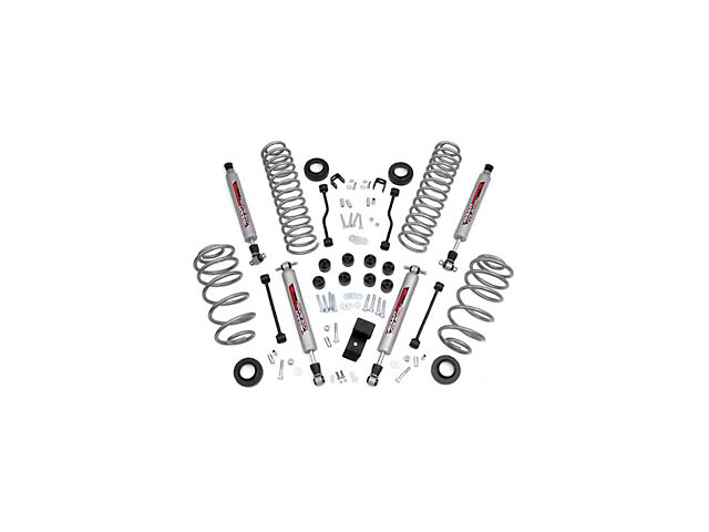 Rough Country 3.25 in. Suspension Lift Kit w/ Performance 2.2 Shocks (97-02 4.0L Jeep Wrangler TJ)
