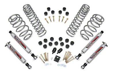 Rough Country 3.75 in. Lift Combo Kit w/ Shocks (97-06 4.0L Wrangler TJ)