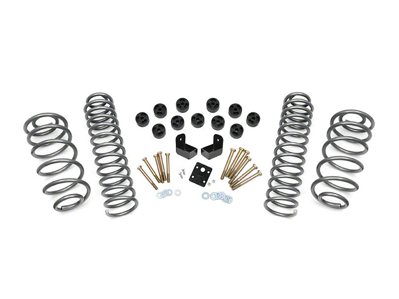 Rough Country 3.75 in. Lift Combo Kit w/o Shocks (97-06 2.4L or 2.5L Jeep Wrangler TJ)