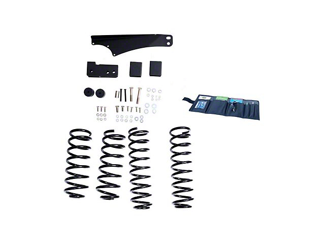 Rugged Ridge 2.50 to 3.50-Inch Suspension Lift Kit with ORV Shocks (07-18 Jeep Wrangler JK)