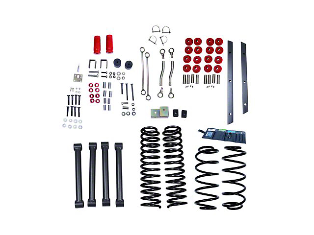 Rugged Ridge 4-Inch Suspension Lift Kit with ORV Shocks (03-06 Jeep Wrangler TJ)