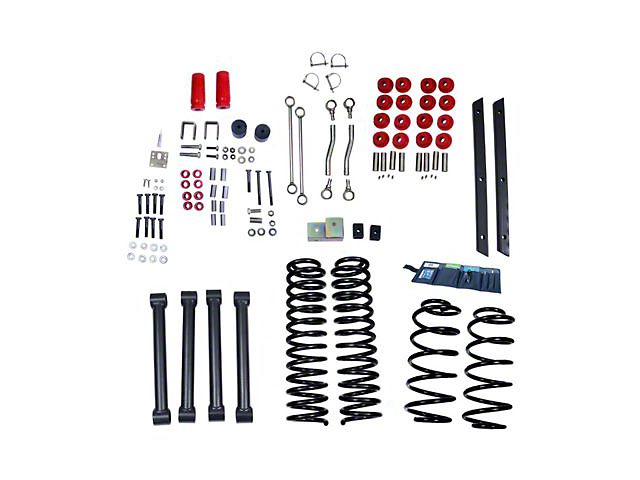 Rugged Ridge 4-Inch Suspension Lift Kit with ORV Shocks (04-06 Jeep Wrangler TJ Unlimited)