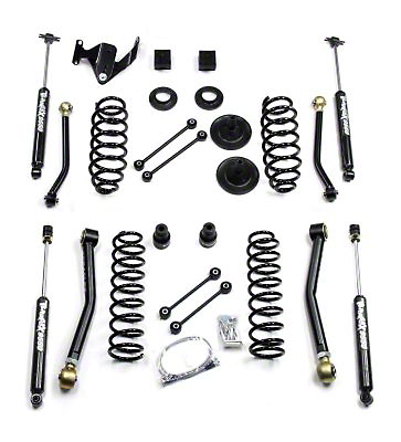 Teraflex 3 in. Lift Kit w/ Front Lower & Extra Short Rear Upper Flex Arms w/ Shocks (07-18 Wrangler JK 2 Door)