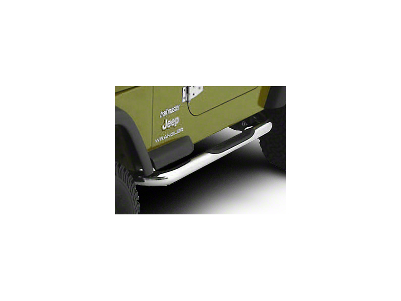 Smittybilt 3 in. Sure Side Step Bars - Stainless Steel (04-06 Jeep Wrangler TJ Unlimited)