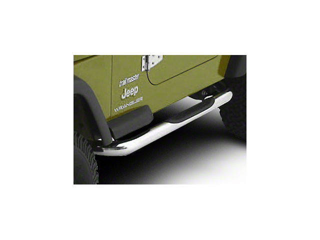 Smittybilt 3-Inch Sure Side Step Bars; Stainless Steel (04-06 Jeep Wrangler TJ Unlimited)